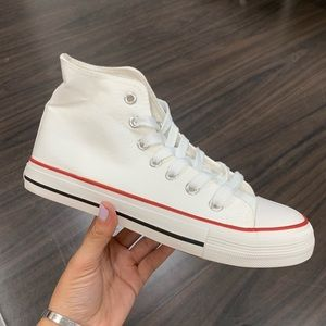 Other - Men's white canvas high top sneaker
